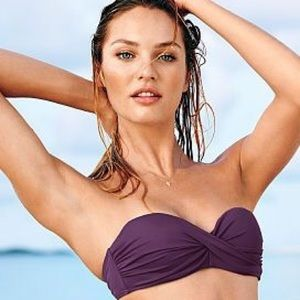 Victoria's Secret Swim - Victoria's Secret Twist Front Bandeau Top 32B💜